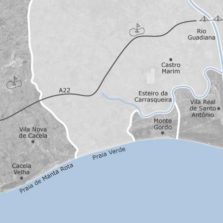Praia Da Manta Rota Mapa Algarve Portal