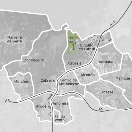 alcoitão mapa Mapa de Alcabideche, Lisboa: casas para arrendar — idealista alcoitão mapa